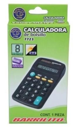 CALCULADORA ACME BARRILITO DE BOLSILLO 7723 8 DIGITOS