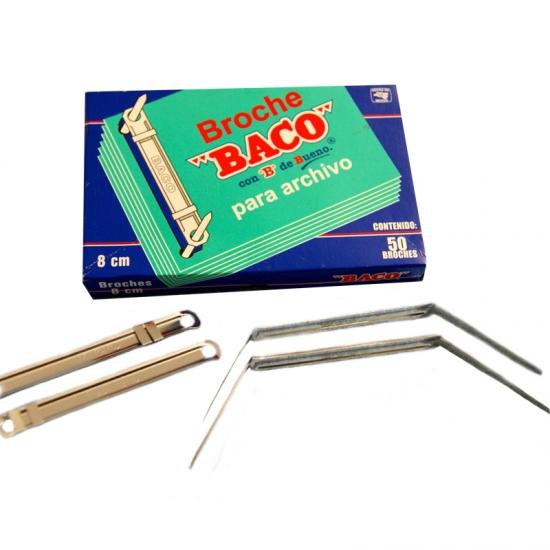 BROCHE BACO NUM. 8CM C/50
