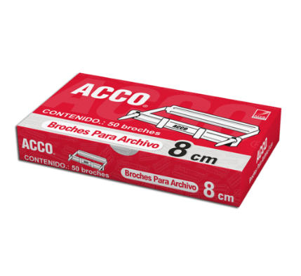 BROCHE ACCO NO. 8 mm C/50